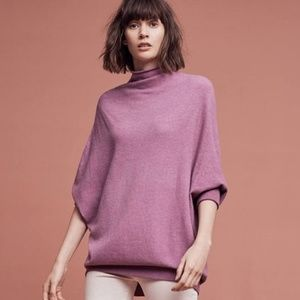 ANTHROPOLOGIE Mockneck Dolman Sweater Lilac {O43}